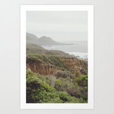 enchanted big sur Art Print