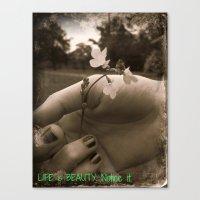 Touching Beauty Canvas Print