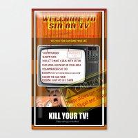 Sin TV Canvas Print
