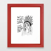 Attention Whore - BW Framed Art Print