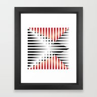 Framed Art Print featuring Red, Black & White by HK Chik
