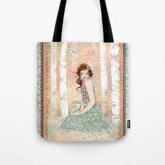 Mademoiselle Snow Tote Bag