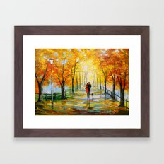 Golden autumn Framed Art Print
