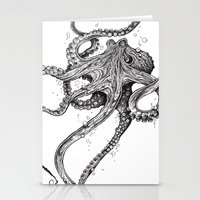 octopus Stationery Cards featuring Octopus by TAOJB