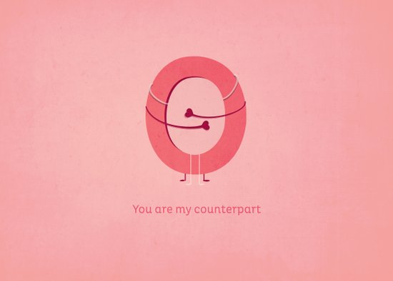 You are my counterpart Canvas Print