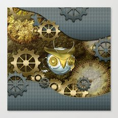 Steampunk, awesome owl Canvas Print