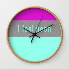 Concrete & Neon Wall Clock