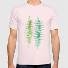 Two Ferns Mens Fitted Tee Light Pink SMALL