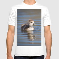 Duckling on the pond Mens Fitted Tee SMALL White