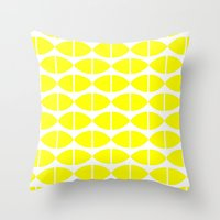 Lemons Pattern Throw Pillow