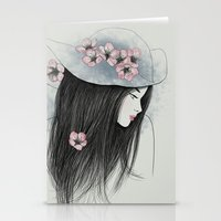 The Girl In The Garden Stationery Cards