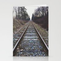 Train Tracks Stationery Cards