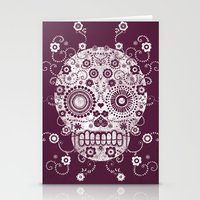 sugar skull Stationery Cards featuring Sugar Skull by Farnell