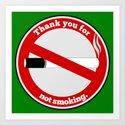No Smoking Art Print