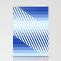 Ovrlap Blue Stationery Cards