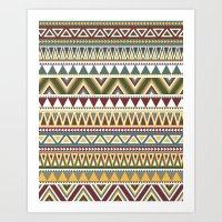 aztec Art Prints featuring Aztec by Dianne Delahunty
