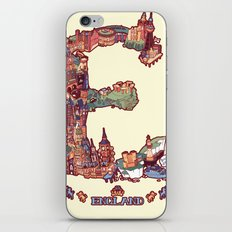 E is for England iPhone & iPod Skin