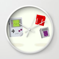 Gameboy & Games Wall Clock
