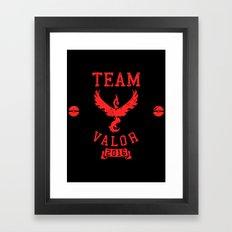 Team Valor Framed Art Print