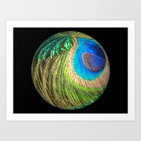 Peacock Eye And Sword Sp… Art Print