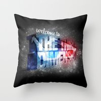 Welcome To The 3rd Dimen… Throw Pillow