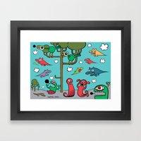 Wood Of Chaos Framed Art Print