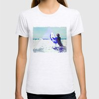 Surfing Devon Womens Fitted Tee Ash Grey SMALL