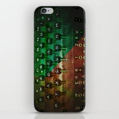 P's and Q's iPhone & iPod Skin