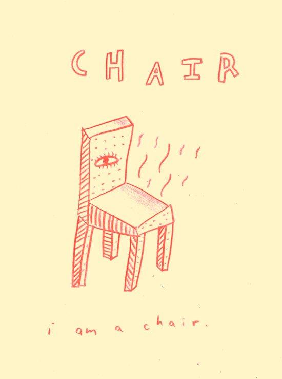 chair a little about yrself Art Print