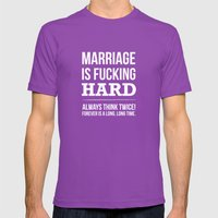 Marriage Is Fucking Hard… Mens Fitted Tee Ultraviolet SMALL
