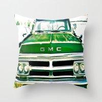 Green GMC Throw Pillow
