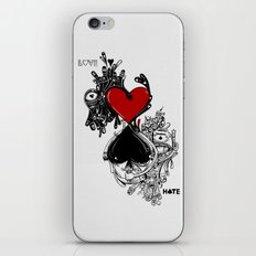 Love Hate iPhone & iPod Skin