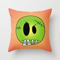 Scary Little Frankinstei… Throw Pillow
