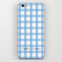 Indigo Gingham iPhone & iPod Skin