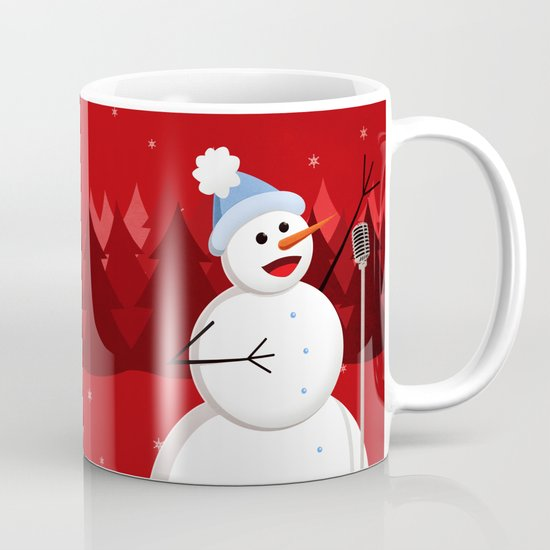 Happy Singing Snowman Mug