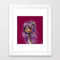 Little Skull Girl Illust… Framed Art Print