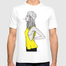 Tank Mens Fitted Tee White SMALL