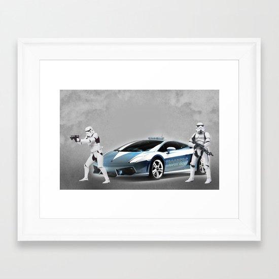Lamborghini Troopers Framed Art Print