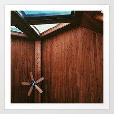 Cabin Ceiling  Art Print
