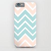 PEACH & BLUE CHEVRON iPhone 6 Slim Case