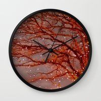 Magical In Red Wall Clock