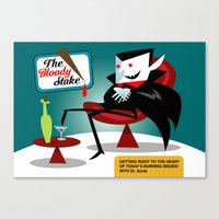 Dracula's other career. Canvas Print