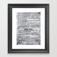 Banksy on Brandalism Framed Art Print