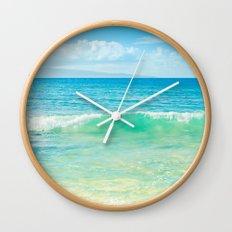 Ocean Blue Beach Dreams Wall Clock