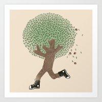 Run For Your Life Art Print