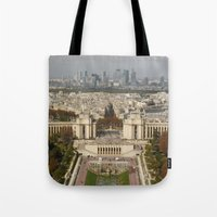 Aerial Paris Tote Bag