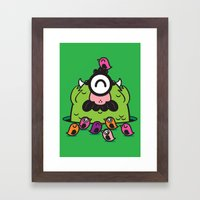 Chameleonster Framed Art Print
