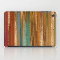 wood panel multicolor iPad Case