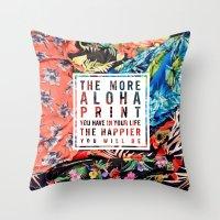 Aloha Print Life Throw Pillow