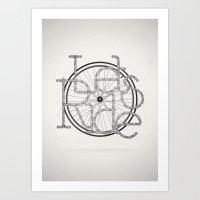Let´s Ride Art Print
